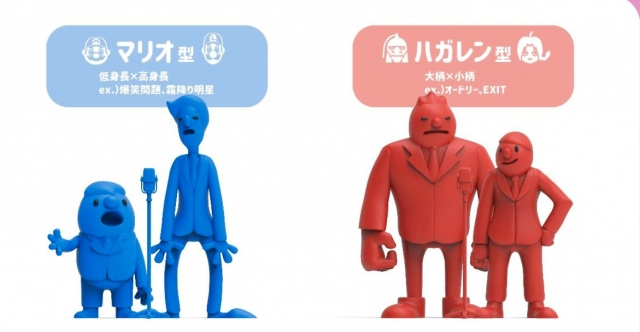 """漫才コンビの""""体格差パターン""""(画像提供:しらたきさん)の画像"""