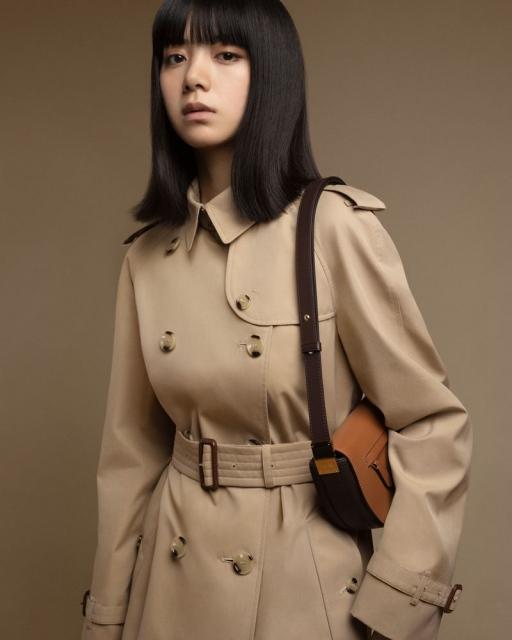 バーバリーの日本初の公式アンバサダーに就任した池田エライザの画像