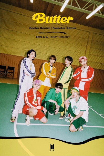 「Butter」リミックス音源「Sweeter」と「Cooler」バージョンを発表したBTS photo by BIGHIT MUSICの画像