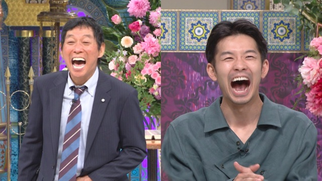 8日放送『踊る!さんま御殿!!』に出演する明石家さんま、仲野太賀 (C)日本テレビの画像