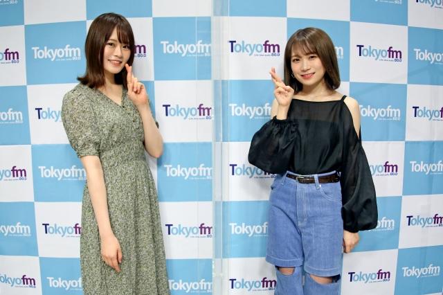 秋元真夏が『山崎怜奈の誰かに話したかったこと。』に生出演(C)TOKYO FMの画像