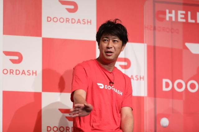フードデリバリー業界米国最大手企業の『DoorDash』日本進出記者発表会に出席した尾形貴弘の画像
