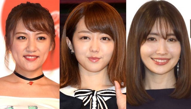 (左から)高橋みなみ、峯岸みなみ、小嶋陽菜 (C)ORICON NewS inc.の画像