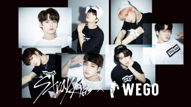 アパレルブランド『WEGO』とのコラボレーションアイテムの発売が決定したStray Kidsの画像