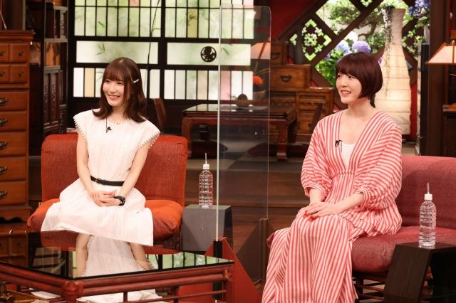 18日放送のバラエティー『さんまのまんま初夏SP』に出演する(左から)日高里菜、花澤香菜(C)カンテレの画像