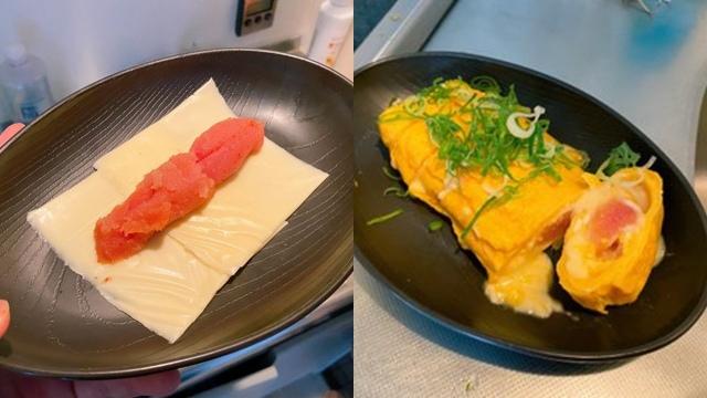ツイッターで9万いいね、明太子とチーズの卵焼き(画像提供:@rond4cus2)の画像
