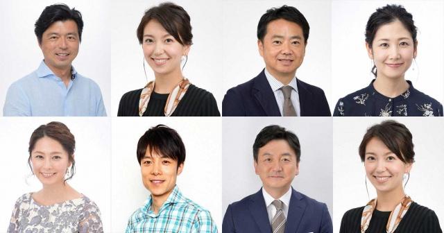 NHK東京2020オリンピック(上段)・パラリンピック(下段)キャスターの画像