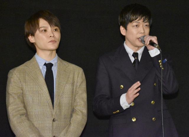 映画『僕が君の耳になる』舞台あいさつに登壇したHANDSIGNの(左から)TATSU、SHINGO (C)ORICON NewS inc.の画像