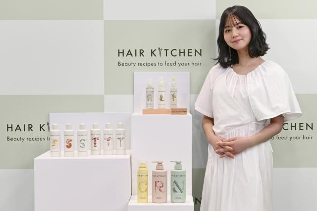 資生堂プロフェッショナルサロン専売ヘアケアブランド『HAIR KITCHEN』オンラインPR発表会に登壇したNANAMIの画像
