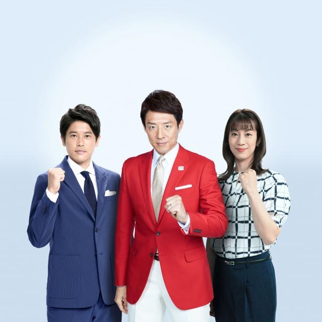 テレビ朝日系列『東京 オリンピック』キャスターに決定した(左から)内田篤人、松岡修造、寺川綾 (C)テレビ朝日の画像