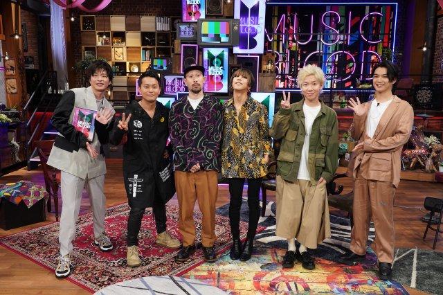 田中圭と千葉雄大がMCを務める音楽番組『MUSIC BLOOD』にSUPER BEAVERが出演(C)日本テレビの画像