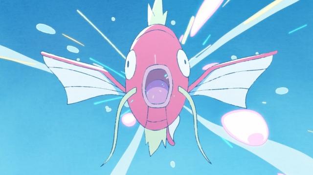 ポケモンの新作アニメーション『まっててね!コイキング』の場面カットの画像