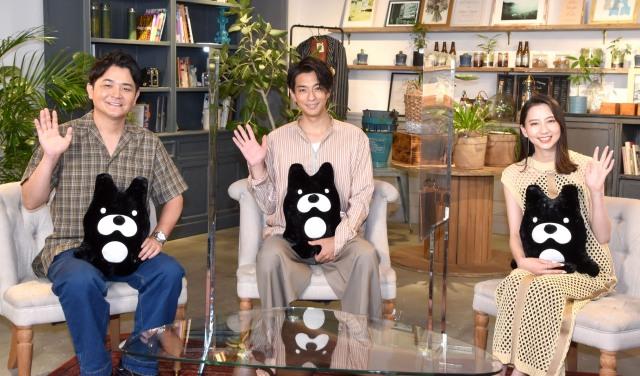 ABEMAオリジナルシリーズ新作恋愛モキュメンタリー番組『私たち結婚しました』MCを務める(左から)ノブ、三浦翔平、河北麻友子 (C)ORICON NewS inc.の画像
