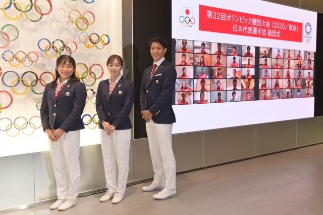 『第32回オリンピック競技大会』日本代表選手団の結団式の模様(C)JOCの画像