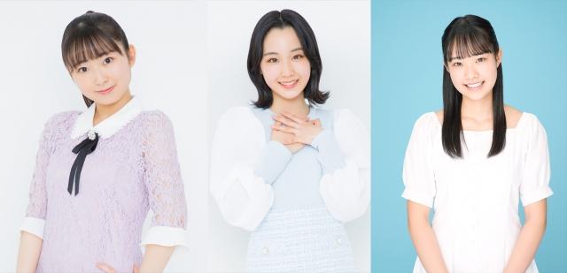 Juice=Juiceの新メンバー(左から)有澤一華(17)、江端妃咲(14)、入江里咲(15)の画像