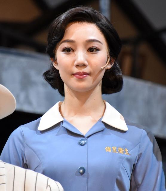 ミュージカル『衛生』リズム&バキュームの囲み取材に出席した咲妃みゆ (C)ORICON NewS inc.の画像
