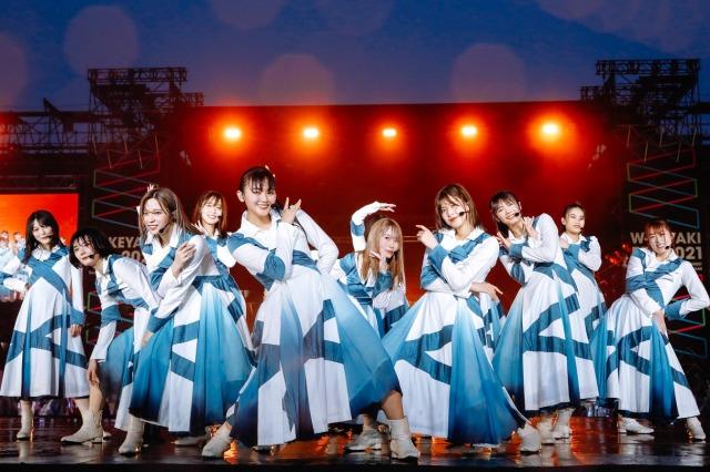 全員そろって改名後初の有観客ライブを開催した櫻坂46 Photo by 上山陽介の画像