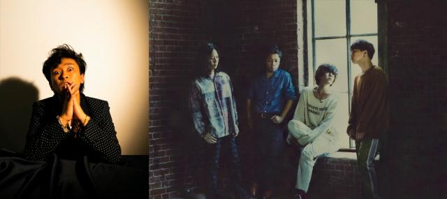 東海オンエア・としみつと、LAMP IN TERRENボーカル・松本大(右から2人目)がライブイベント共催の画像