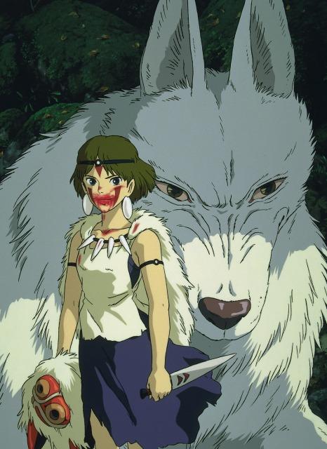 8月13日から『金曜ロードショー』3種連続で『スタジオジブリ』作品を放送 第一弾の『もののけ姫』 (C)1997 Studio Ghibli・NDの画像