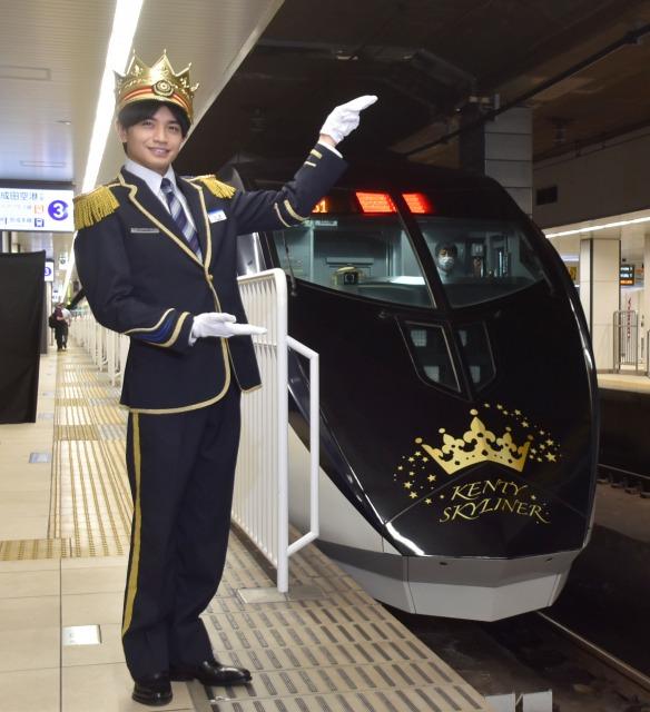 ついに「列車と融合」したSexy Zone・中島健人 (C)ORICON NewS inc.の画像