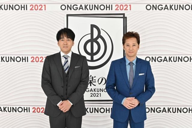 『音楽の日2021』総合司会の(左から)安住紳一郎アナウンサー、中居正広 (C)TBSの画像