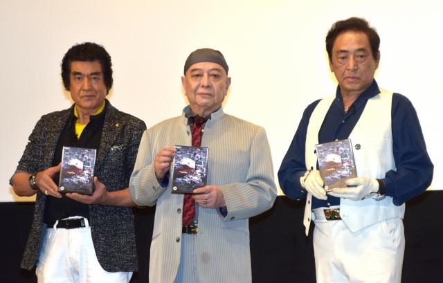 レジェンドライダーが8年ぶりに集結(左から)藤岡弘、、佐々木剛、宮内洋 (C)ORICON NewS inc.の画像