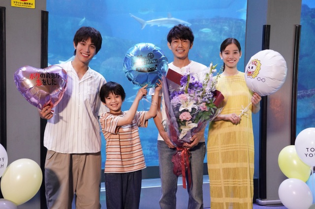 『ボクの殺意が恋をした』撮影現場で藤木直人の誕生日をお祝い (C)日本テレビの画像