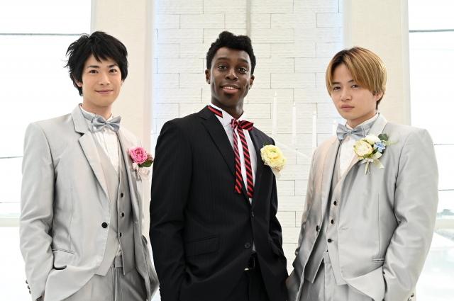 『イタイケに恋して』第4話より(左から)渡辺大知、アイクぬわら、菊池風磨(C)読売テレビの画像