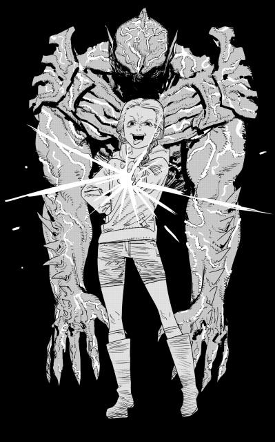 「チェンソーマン」「ルックバック」の作者、漫画家の藤本タツキ氏による描き下ろしイラスト=映画『サイコ・ゴアマン』(7月30日より全国順次公開)(C)2020 Crazy Ball Inc.の画像
