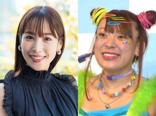 鷲見玲奈(左:撮影/谷脇貢史)、フワちゃん (C)ORICON NewS inc.の画像