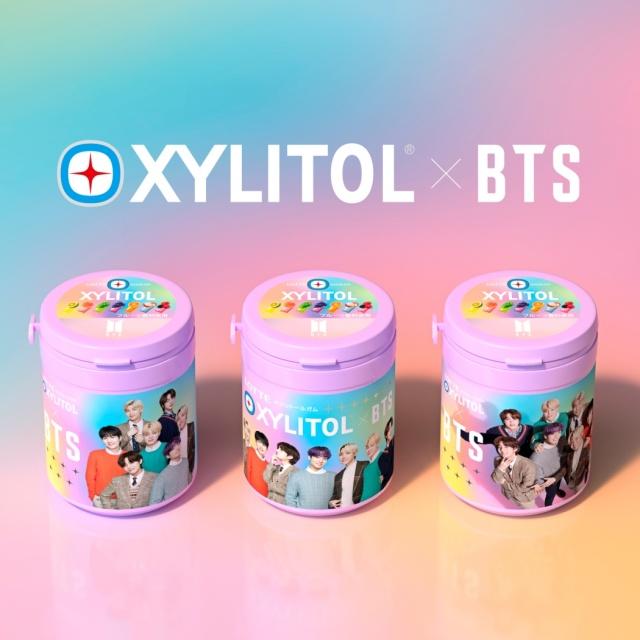 BTSとロッテがコラボした『キシリトールガム BTS Smileボトル』の画像