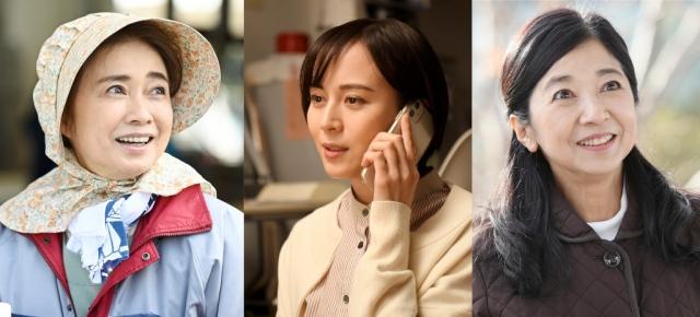 『日本沈没―希望のひと―』に出演する(左から)風吹ジュン、比嘉愛未、宮崎美子 (C)TBSの画像