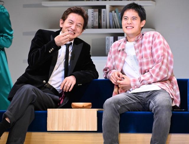 念願の親子共演を果たした(左から)岡本健一、岡本圭人 (C)ORICON NewS inc.の画像