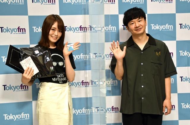 TOKYO FM『山崎怜奈の誰かに話したかったこと。』より(左から)山崎怜奈、若林正恭 (C)ORICON NewS inc.の画像
