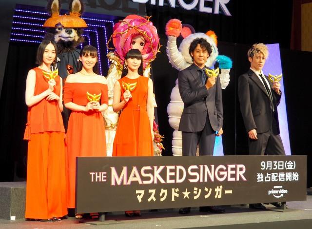(左から)のっち、あ~ちゃん、かしゆか、大泉洋、MIYAVI (C)ORICON NewS inc.の画像