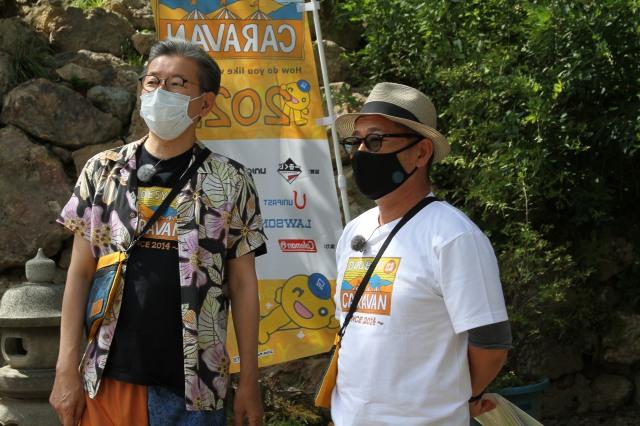 (左から)嬉野雅道ディレクター、藤村忠寿ディレクター=8月29日に実施した無観客の無料オンラインイベント「2021 水曜どうでしょうエアキャラバン」(C)HTBの画像