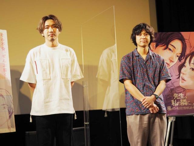 映画『先生、私の隣に座っていただけませんか?』(9月10日公開)トークイベントに登壇した柄本佑と堀江貴大監督 (C)ORICON NewS inc.の画像
