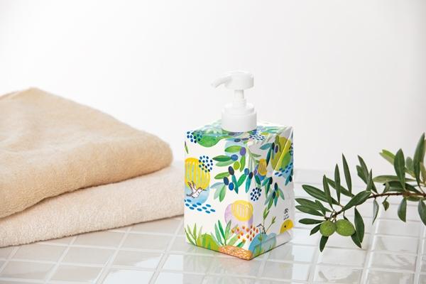 浴用商品として国内初の紙パックを採用した「地球の未来にまじめなボディソープ」の画像