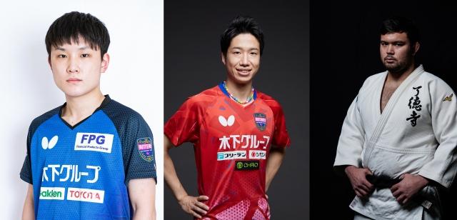 『7.2 新しい別の窓#42』に出演する(左から)張本智和、水谷隼、ウルフ・アロンの画像