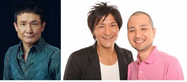 『7.2 新しい別の窓#42』に出演する(左から)木下ほうか、スリムクラブ・真栄田賢、内間政成の画像