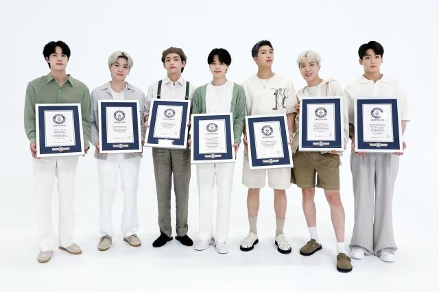 BTS、英・ギネスワールドレコード名誉の殿堂入りの画像