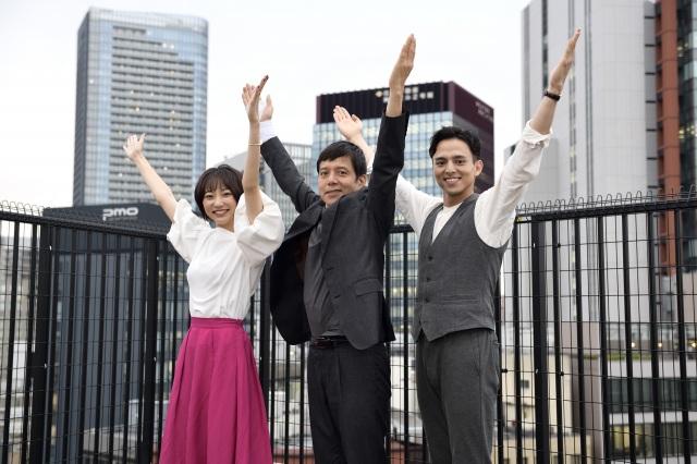 ドラマスペシャル 『ドクターY』に出演する(左から)武田玲奈、勝村政信、満島真之介 (C)テレビ朝日の画像