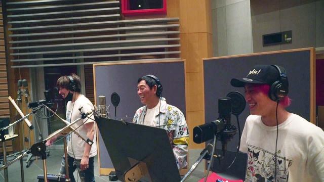EXITのミニアルバム収録曲「WHAT COLOR?(feat. 明石家さんま)」レコーディング風景の画像