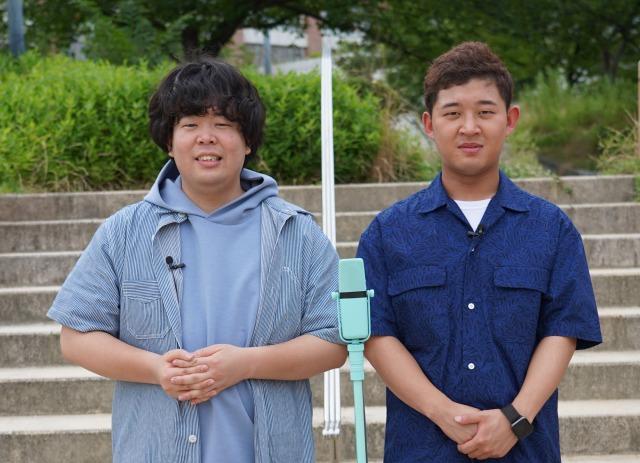 日本テレビ新番組『ハネノバス』に出演する(左から)草薙航基(宮下草薙)、後藤拓実(四千頭身)(C)日本テレビの画像