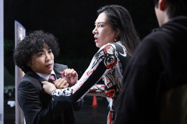『ハコヅメ~たたかう!交番女子~』第8話に出演するくぼてんき (C)日本テレビの画像