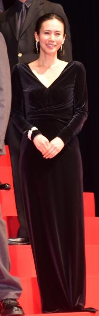 胸元大胆なドレスで魅了した中谷美紀 (C)ORICON NewS inc.の画像