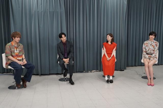 『彼女はキレイだった』特別番組に出演する(左から)赤楚衛二、中島健人、小芝風花、佐久間由衣(C)カンテレの画像