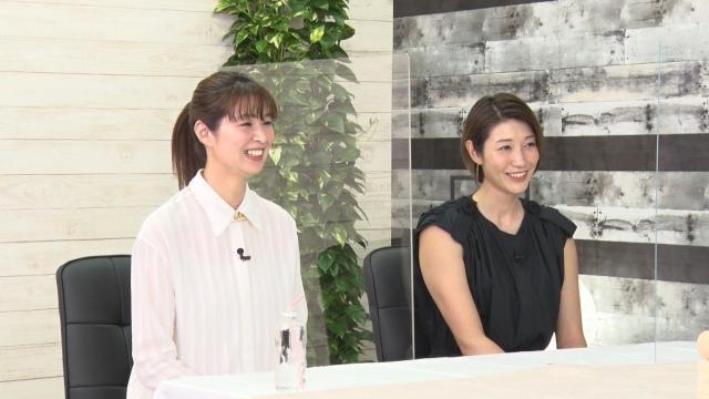 15日放送『突然ですが占ってもいいですか?』に出演する(左から)木村沙織、狩野舞子 (C)フジテレビの画像
