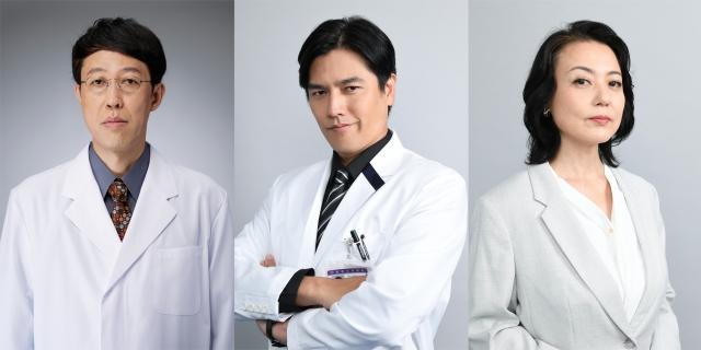 『ドクターX』新キャラクターとなる(左から)小籔千豊、要潤、杉田かおる (C)テレビ朝日の画像