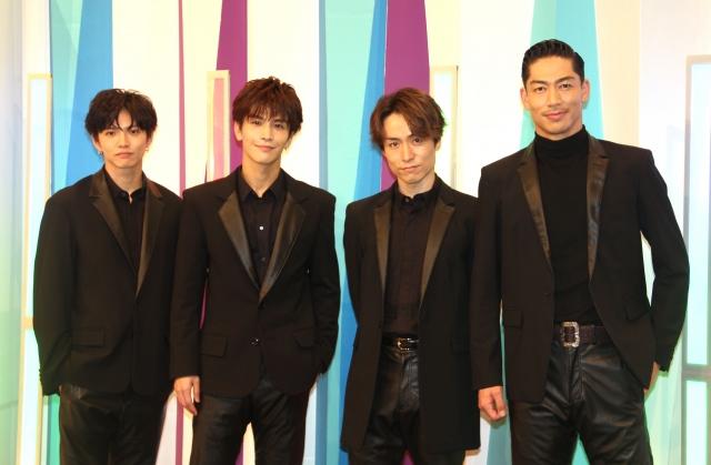 取材会に出席したEXILE(左から)佐藤大樹、岩田剛典、TETSUYA、AKIRA (C)ORICON NewS inc.の画像